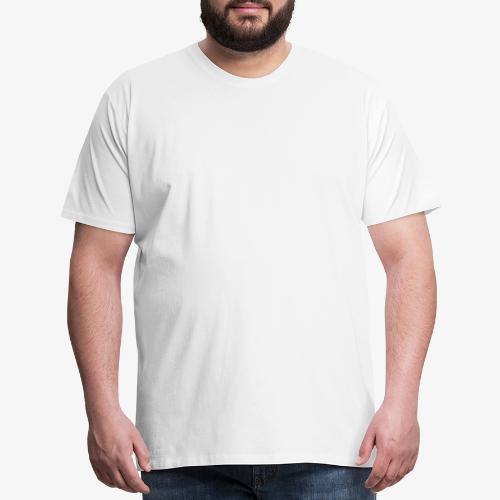 white leaf w/myceliaX.com logo - Men's Premium T-Shirt