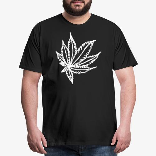 white leaf w/myceliaX.com logo - Men's Premium T-Shirt