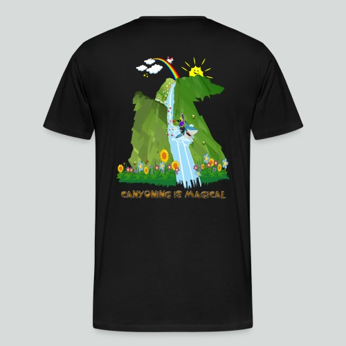 CANYONING IS MAGICAL-on dark back-2 sided - Men's Premium T-Shirt