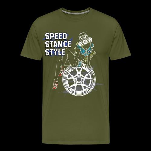 Gas Mask Girl Color - Men's Premium T-Shirt