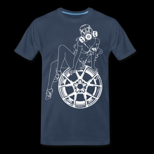 Gas Mask Girl - Men's Premium T-Shirt