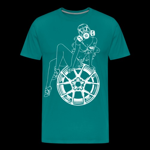 Gas Mask Girl - Men's Premium T-Shirt