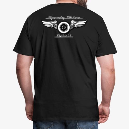 White Lettering Speedy Shine Detail - Men's Premium T-Shirt