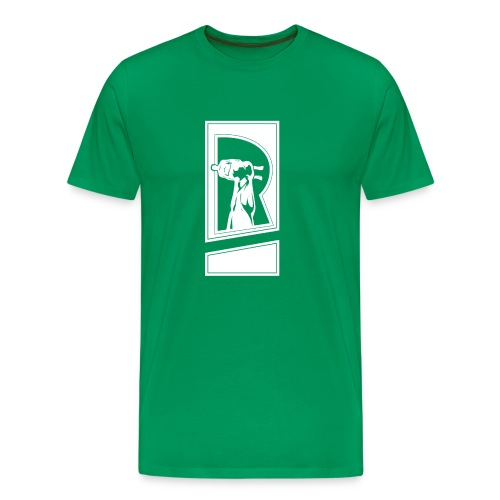 Review Spot Logo White - Men's Premium T-Shirt