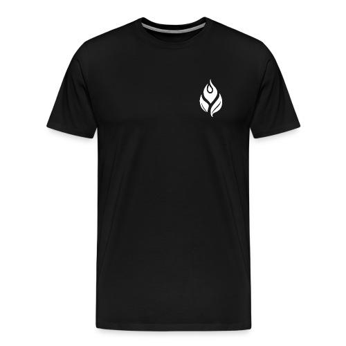 yorHealth LeafLogo White transparent gif - Men's Premium T-Shirt