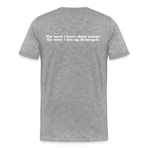 moreilearnwhite - Men's Premium T-Shirt