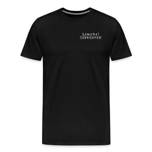 Samurai Carpenter Text on - Men's Premium T-Shirt