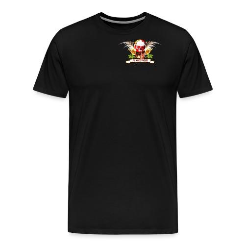 Planet Beer Skull & Keg Gothic Color - Men's Premium T-Shirt