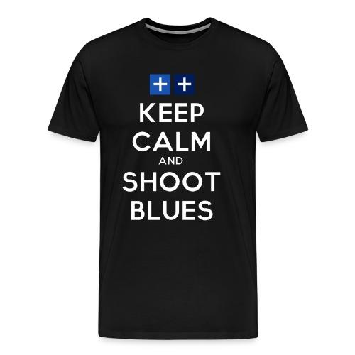 keepcalmandshootblues 2013 03 26 05 32 1 - Men's Premium T-Shirt