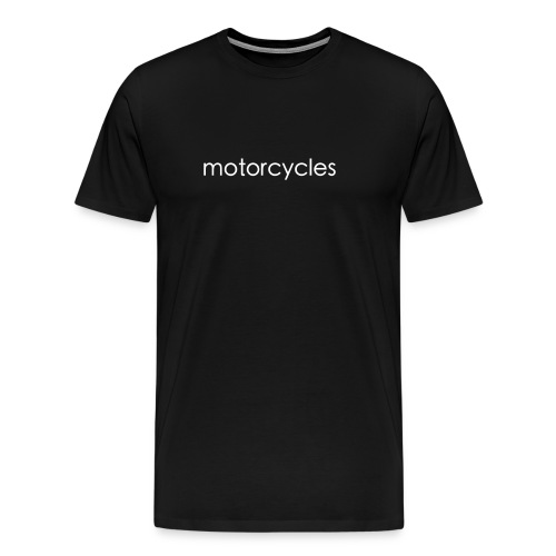 motorcycles white png - Men's Premium T-Shirt