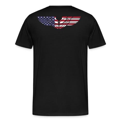sign wings american - Men's Premium T-Shirt