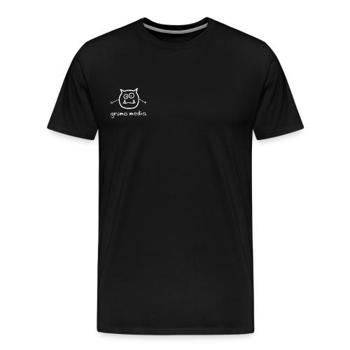 grumomedia logo w txt white - Men's Premium T-Shirt