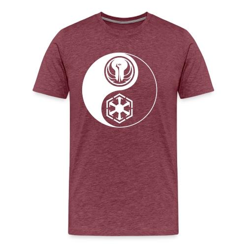 Star Wars SWTOR Yin Yang 1-Color Light - Men's Premium T-Shirt