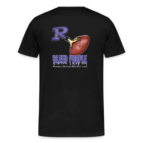 ravens r bleed shirt png - Men's Premium T-Shirt