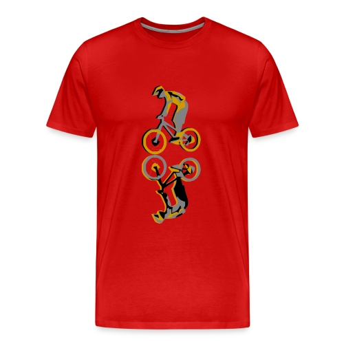 mountain bike vector - Men's Premium T-Shirt