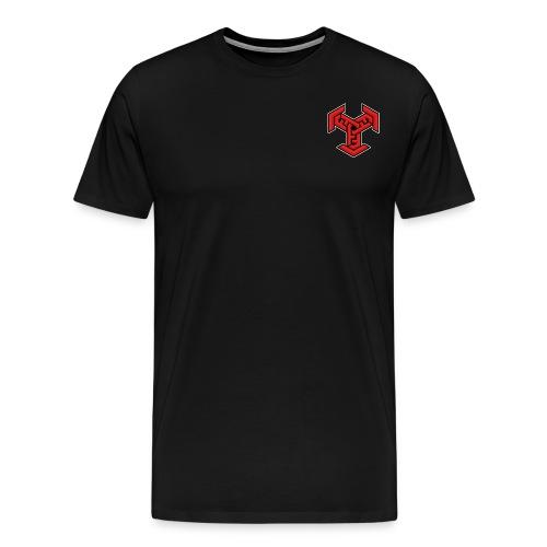 DDM Logo Red,Black,White - Men's Premium T-Shirt