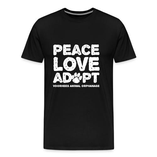 Peace Love Adopt Front png - Men's Premium T-Shirt