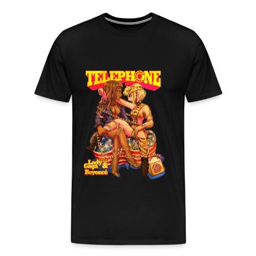 telephone shirt transparent3 - Men's Premium T-Shirt