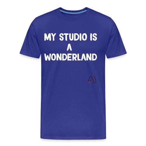 My studio is a wonderland - Men's Premium T-Shirt