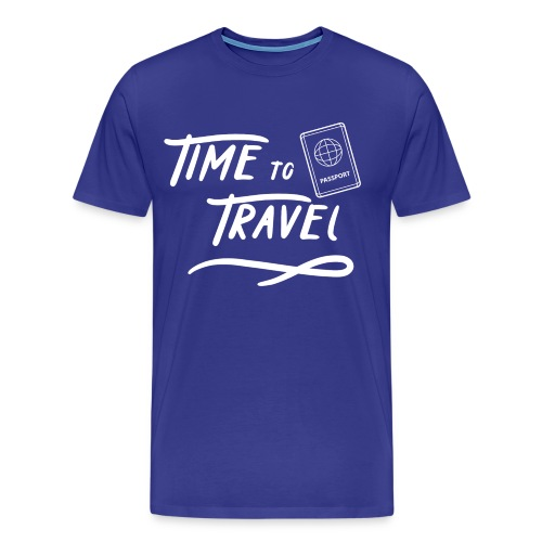Time to Travel Tshirt - Men's Premium T-Shirt