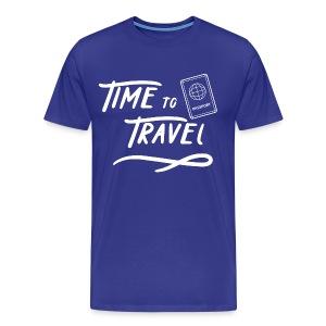 Time to Travel Tshirt - Men's Premium T-Shirt
