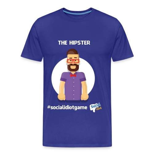 The Hipster (Social Idiot card game) - Men's Premium T-Shirt