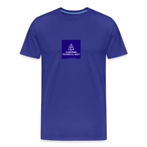 KeepCalm blue and white edition - Men's Premium T-Shirt