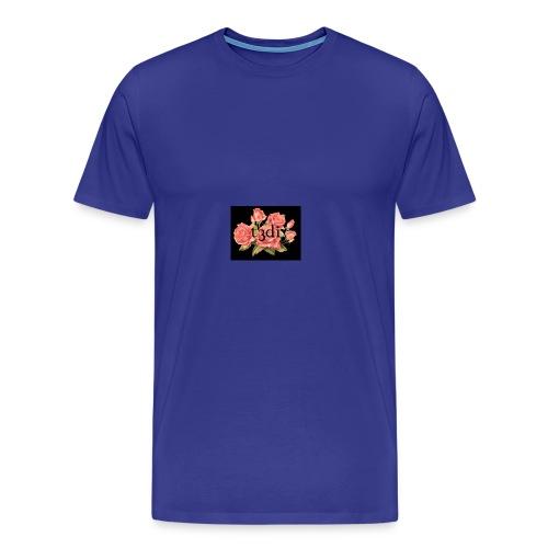 t3di 6aer floral pattern - Men's Premium T-Shirt
