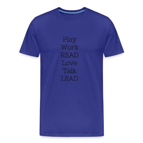 Play_Work_Read - Men's Premium T-Shirt