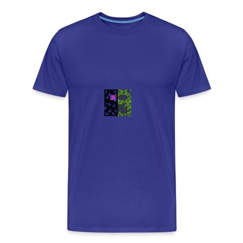 Creeper & enderman - Men's Premium T-Shirt