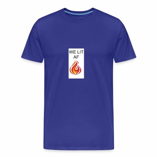 WE LIT AF BRAND - Men's Premium T-Shirt