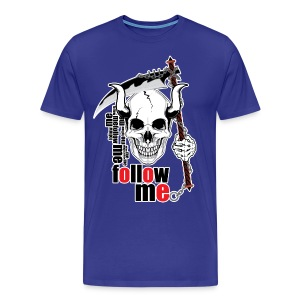 Follow me - Funny Skull with Scythe and Chain - Men's Premium T-Shirt