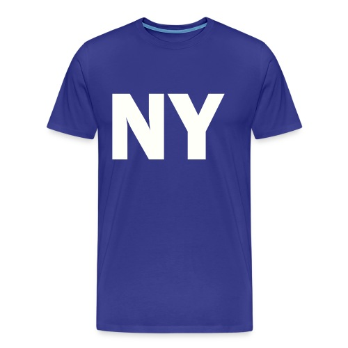 PLACE AND TIME - NY WHITE - Men's Premium T-Shirt