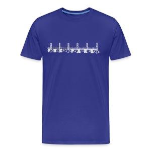 PNC Park Sign Blueprint - Men's Premium T-Shirt