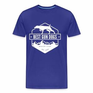 Bestgundogs logo white - Men's Premium T-Shirt