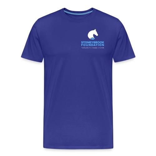 sbf logo stacked white lblue - Men's Premium T-Shirt