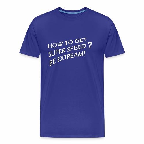 Super Speed Blue - Men's Premium T-Shirt