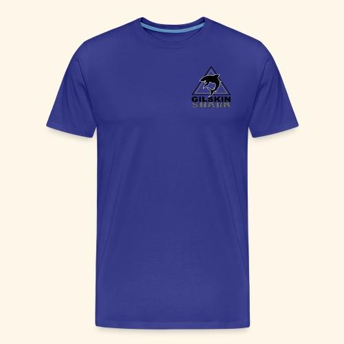 Gilskin Shark-Black and White Logo in Corner - Men's Premium T-Shirt