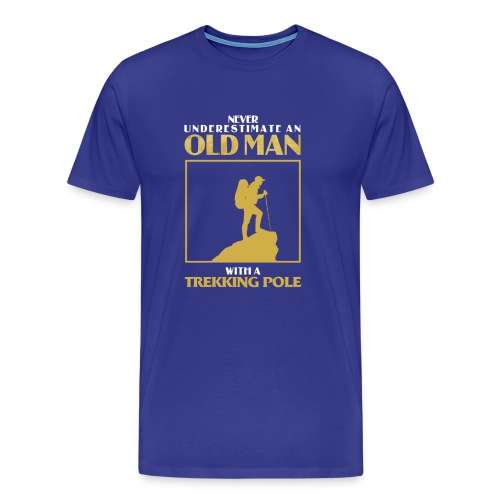 Old Man Trekking - Men's Premium T-Shirt