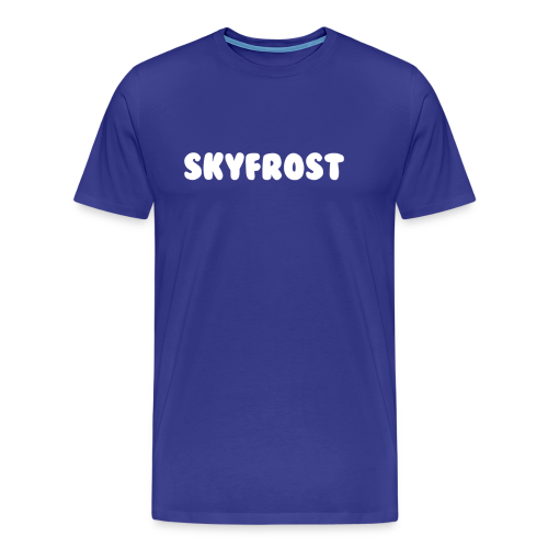 SkyFrost White Text - Men's Premium T-Shirt