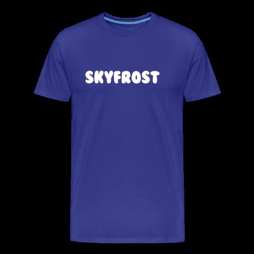 SkyFrost White Text - Men's Premium T-Shirt