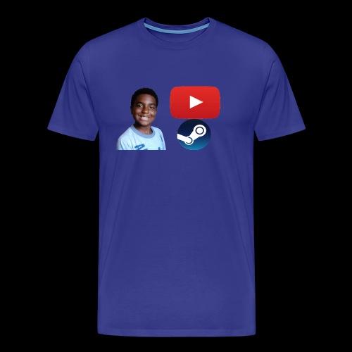 Steam and Youtube - Men's Premium T-Shirt