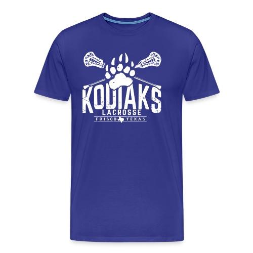 Kodiaks Lacrosse 2018 white - Men's Premium T-Shirt