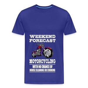 Weekend Forecast Motorcycling Motorcycle - Men's Premium T-Shirt