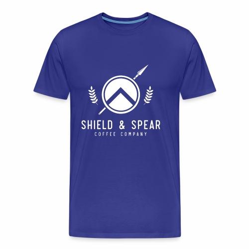 Shield and Spear White Logo - Men's Premium T-Shirt