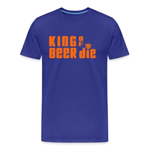 KING OF BEER DIE (Orange) - Men's Premium T-Shirt
