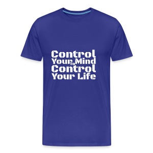 Control Your Mind To Control Your Life - White - Men's Premium T-Shirt