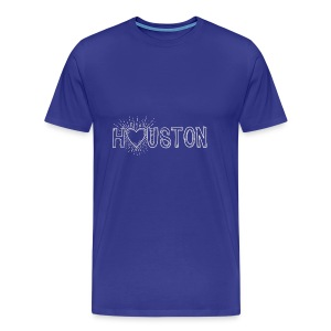 My Heart is With Houston - Men's Premium T-Shirt