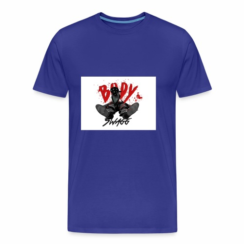 body swagg shirt blue print - Men's Premium T-Shirt