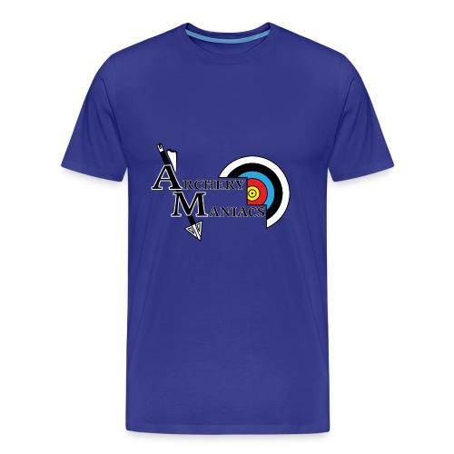 Archery Maniacs White Outline - Men's Premium T-Shirt